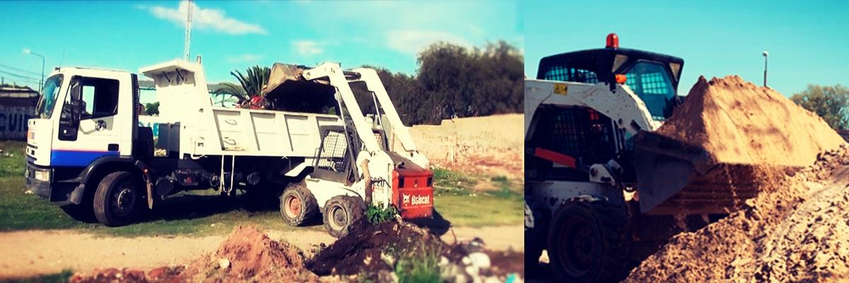 limpieza de escombros, escombros, aridos